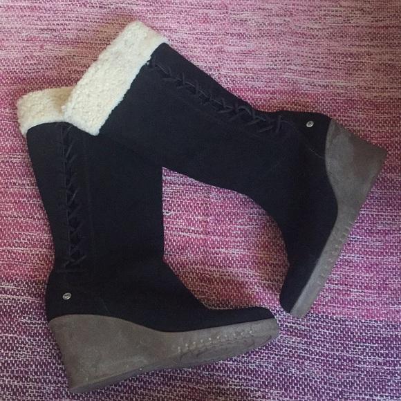 ugg shoes australia sn 5450 suede sheepskin tall boots poshmark rh poshmark com